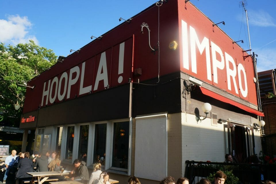 Hoopla Improv venue The Miller London Bridge
