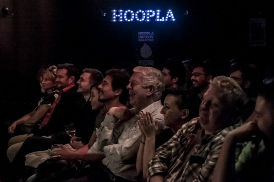 Hoopla audience front row