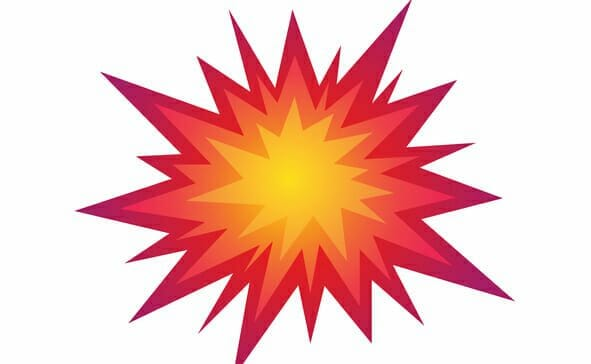 Star bursting boom.Comic book explosion. Vector illustration