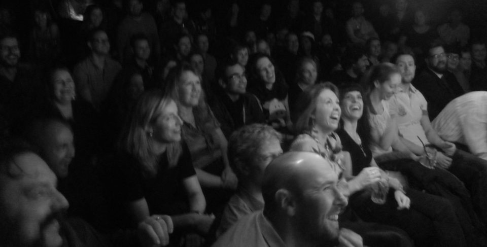 Audience Laughing 2 bw