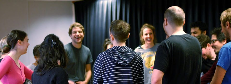 People laughing at Hoopla impro workshop