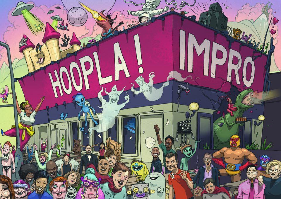 Hoopla Impro Home Page Illustration